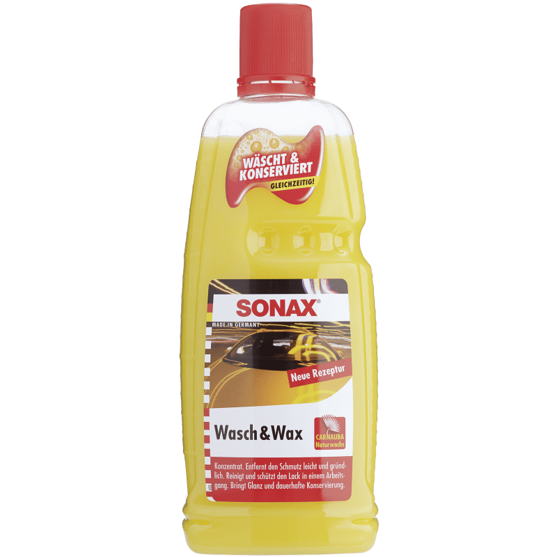 Wash & Wax 1l SONAX - Shampoing cire carnauba - AM-Detailing