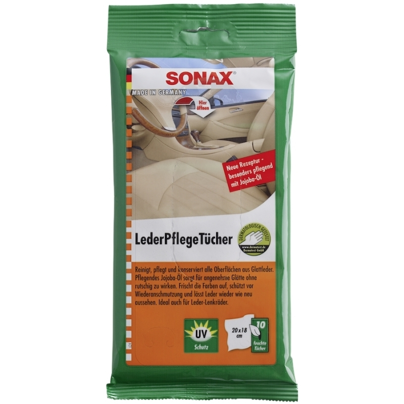 Lingettes nettoyage cuir SONAX - AM-Detailing